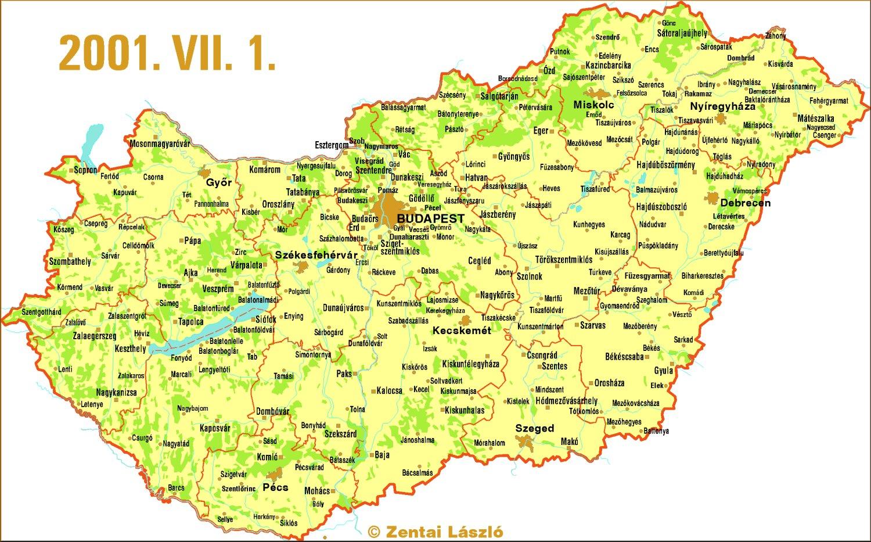 magyarország hu térkép Magyarország térképe [Digitális Képarchívum   DKA 000385] magyarország hu térkép