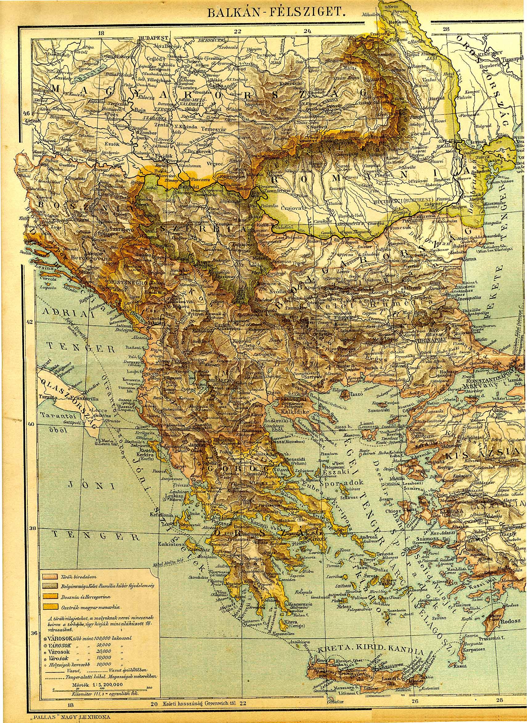 Balkan Felsziget Terkepe Digitalis Keparchivum Dka 000439