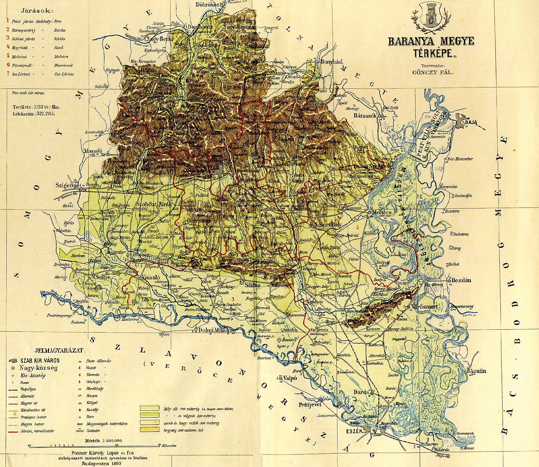 siklós térkép részletes Baranya vármegye térképe [Digitális Képarchívum   DKA 000440]