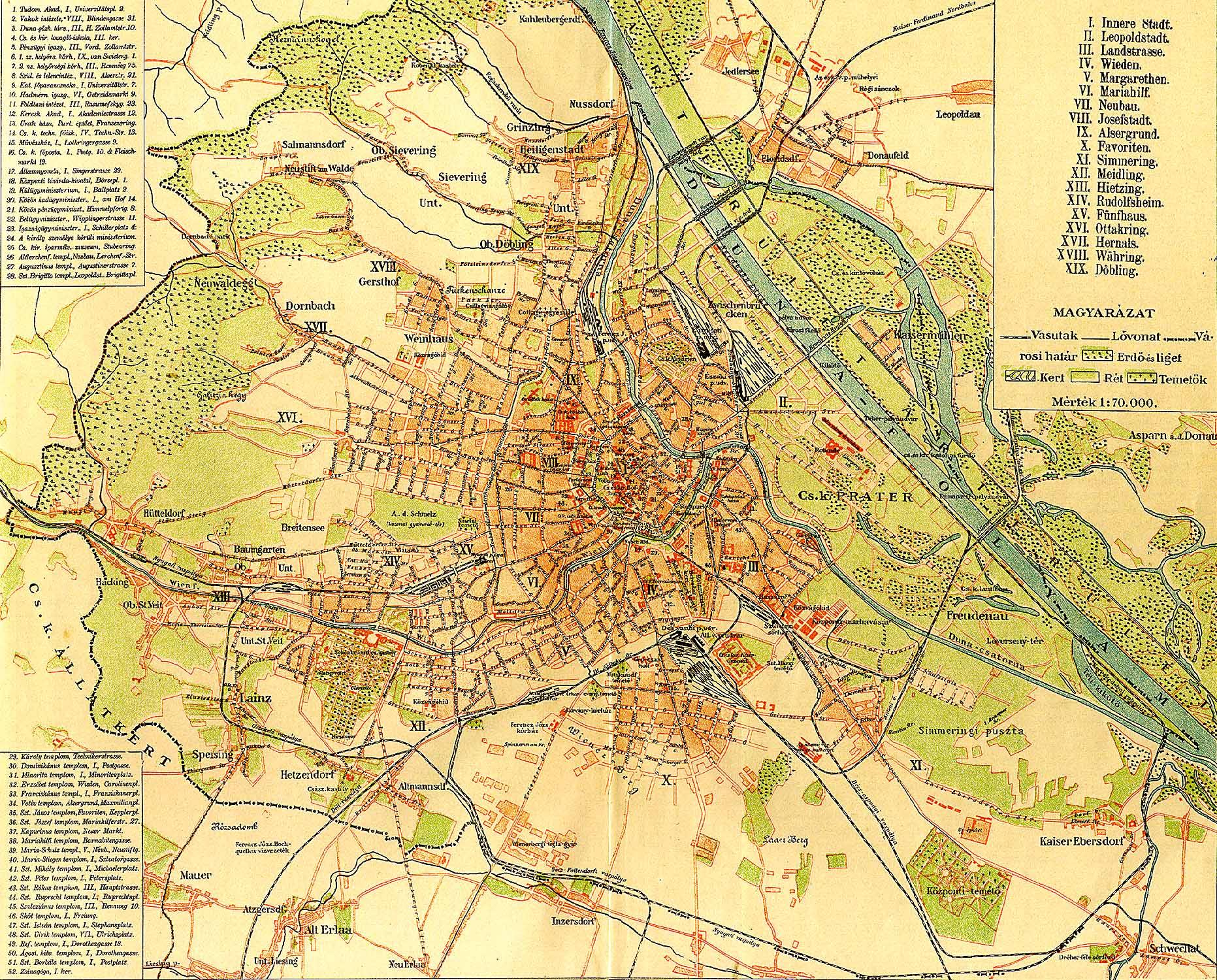 bécs térkép Bécs [Digitális Képarchívum   DKA 000442]
