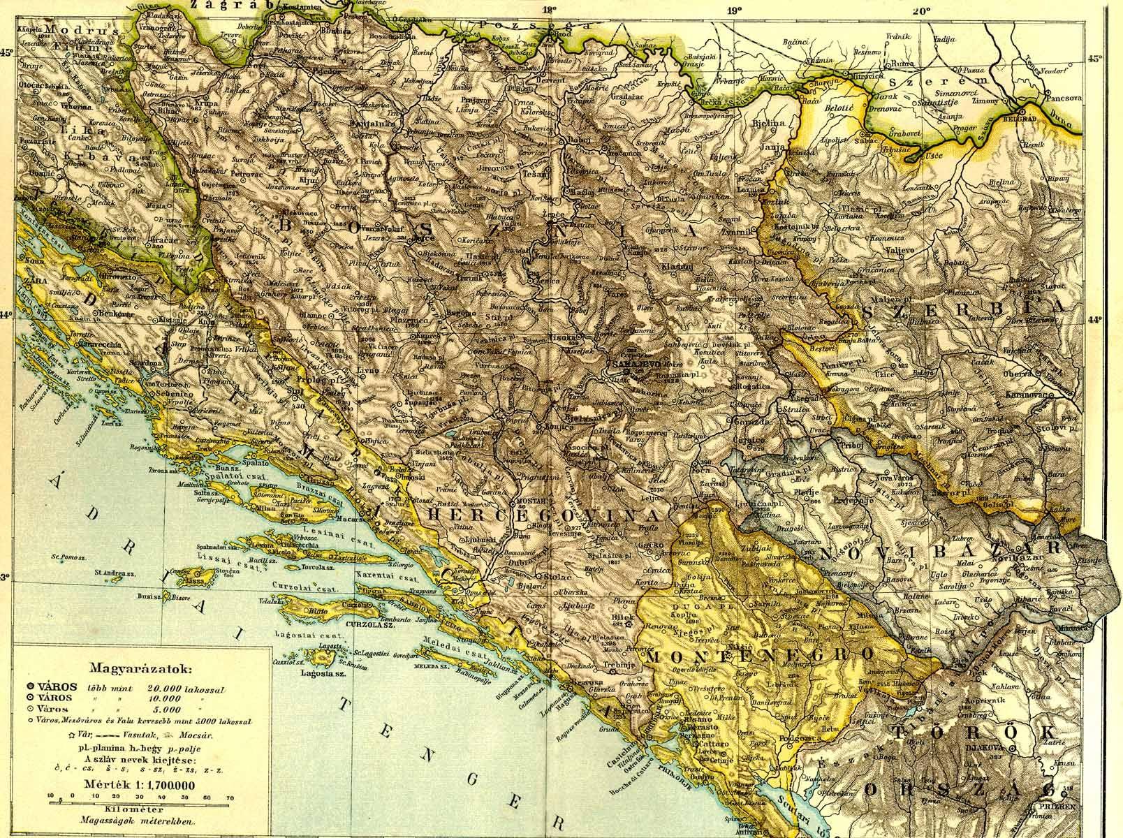 bosznia térkép Bosznia [Digitális Képarchívum   DKA 000458] bosznia térkép