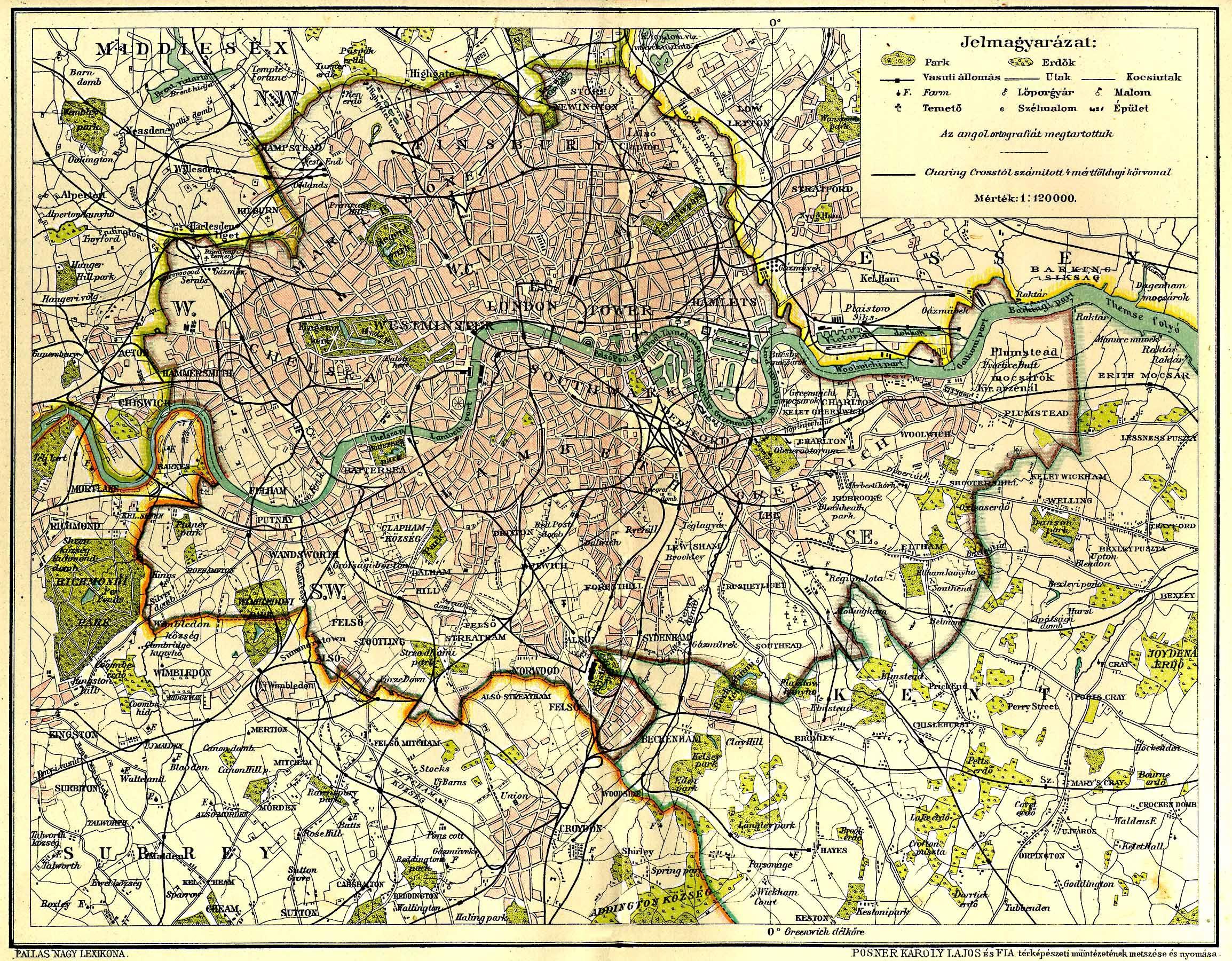 london térkép London [Digitális Képarchívum   DKA 000582]