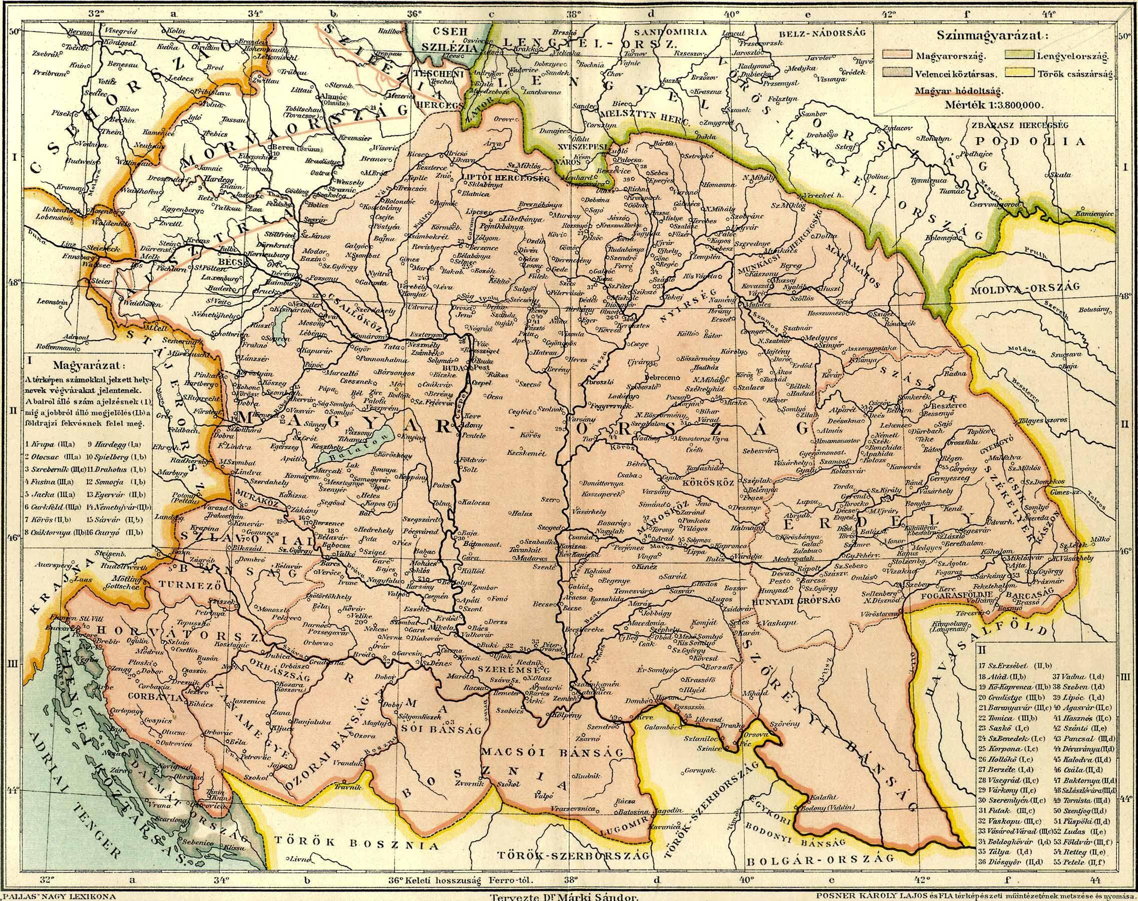 térkép király Magyarország Mátyás király halálakor [Digitális Képarchívum   DKA