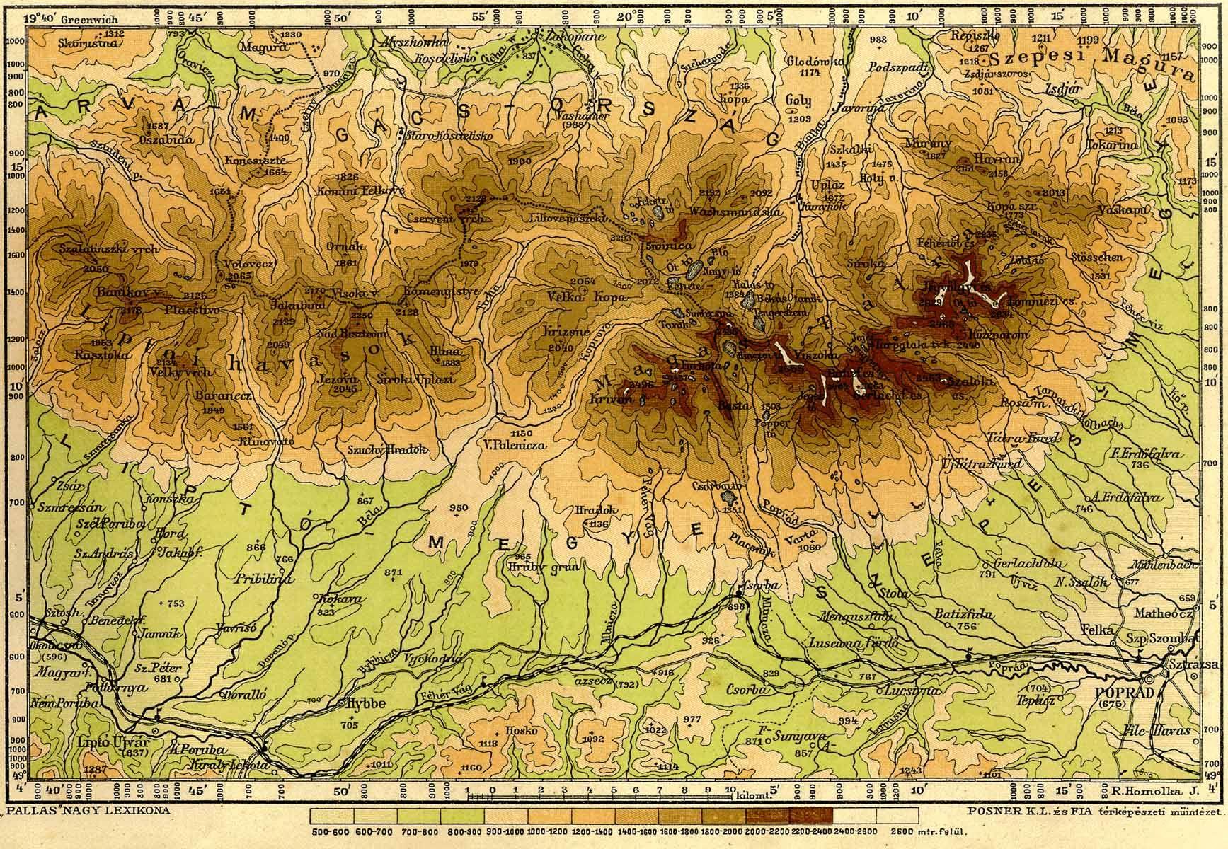 magas tátra térkép A Magas Tátra [Digitális Képarchívum   DKA 000656] magas tátra térkép