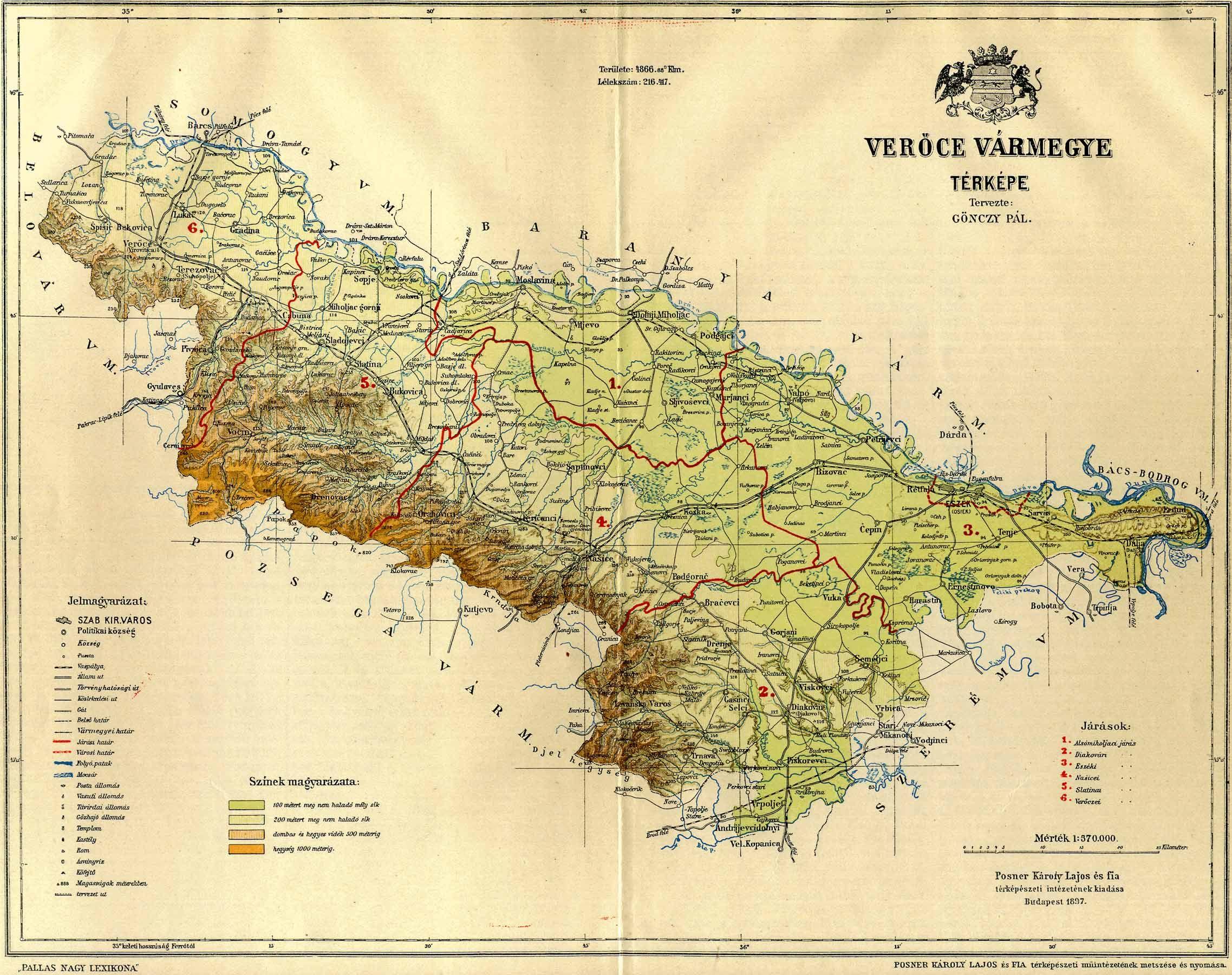 verőce térkép Verőce vármegye térképe [Digitális Képarchívum   DKA 000678] verőce térkép