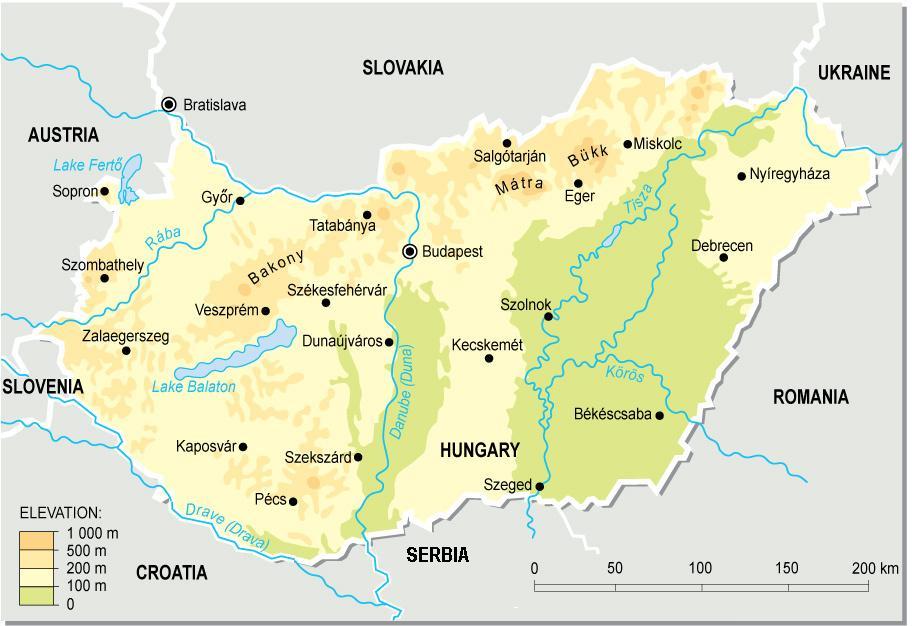 topográfiai térkép magyarország Hungary topographic map Magyarország topográfiai térképe  topográfiai térkép magyarország