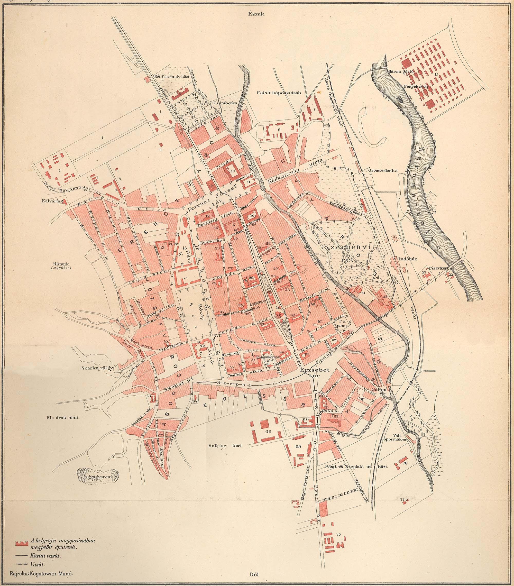 kassa térkép Kassa sz. kir. város térképe [Digitális Képarchívum   DKA 026565] kassa térkép