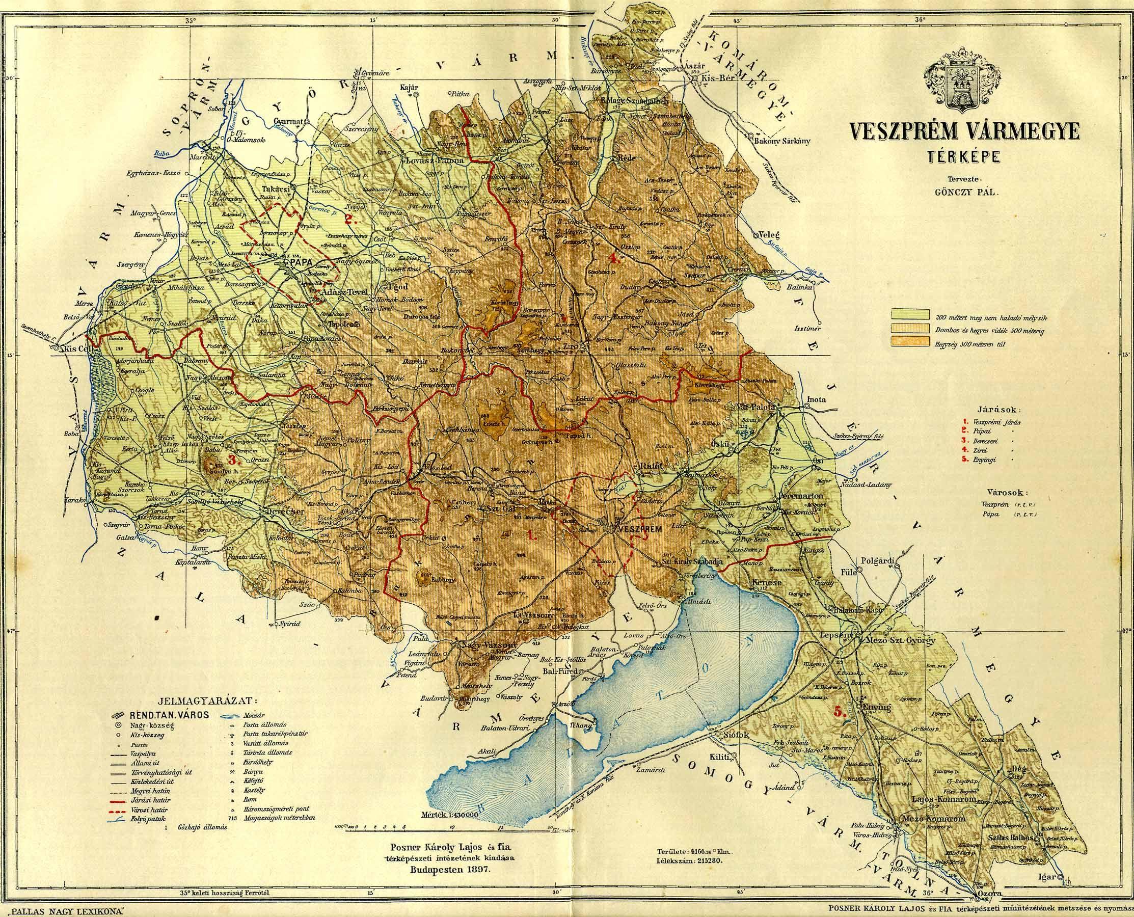 Veszprem Varmegye Terkepe Digitalis Keparchivum Dka 000679